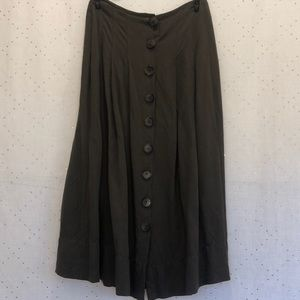 Midi button up skirt